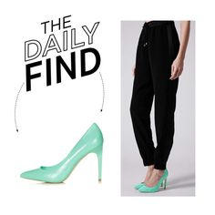 The Daily Find: Topshop Turquoise Pumps on Polyvore