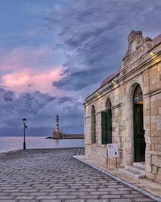 Location: Chania Crete Greece Photo: Tag: ℹ Check: www. Chania Greece, Mykonos Greece, Athens Greece, Corfu, Santorini, Crete Island, Greece Islands, Places To Travel, Places To Go