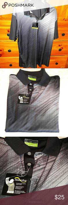 PGA Pro Tour Golf Shirt Athletic Fit. (roomy) Men's Size L in a really nice ombre like effect print. Washed, never worn. PGA Shirts Polos