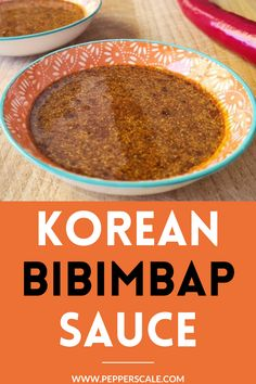 Bibimbap is actually a traditional Korean rice dish – this sauce is what you would expect to have it served with. It's delicious with all sorts of Korean food and Asian stir fries. #gochujang #bibimbap #bibimbapsauce #traditionalkoreanricedish #gochujangchilipaste #bibimbapsaucerecipe #bibimbapsaucerecipeeasy #bibimbapsauceeasy