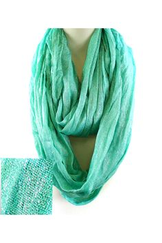 Shimmer Liam Infinity Scarf in Mint.