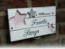 Türschild Familienschild Sterne Shabby NEW Wood Crafts, Diy And Crafts, Lavatory Design, Cubby Shelves, Clear Glass Vases, Projects To Try, Sweet Home, Shabby Chic, Xmas