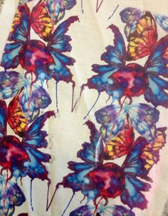 Rhiannon Hartley - Weird bug pattern using brusho ink . #surfacedesign #textiles #insects #butterflys