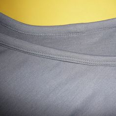 How to finish a neckline on a jersey garment using a double needle