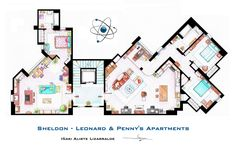 The Big Bang Theory - Sheldon & Leonard & Penny's Appartments