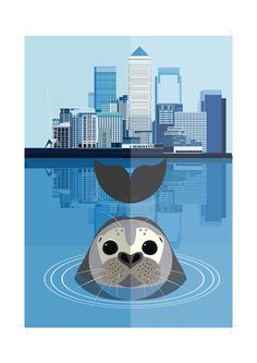 East End Prints - Seal in the Thames, $28.22 (http://www.eastendprints.co.uk/seal-in-the-thames/)
