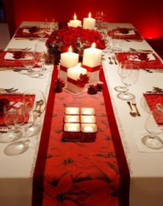 Christmas Decoration Table