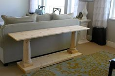 The sofa table is done!!!!! If you want the story from the start you can link back to  this post .    I found the columns online at table...