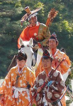 Jidai-Matsuri à Kyoto, Japon. Costumes traditionnels de l'époque Kamakura