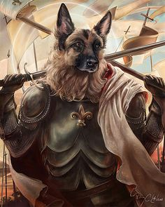 """Philadelphia-based artist Christina Hess created this quirky series of animals imagined as historical figures.  """"I didn't want to be that illustrator that painted animals in clothes. But after I completed Queen Elhissabeth for a family friend I realized that I could have fun with this idea. A lot of fun. Using numerous pets and celebrity animals from charities like Big Cat Rescue for inspiration I started recreating historical icons as animals. Some paintings are created traditionally in…"""