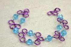 Easy DIY Jewellery Handmade Bracelet out of Bead and Wire~~~http://bit.ly/ZPu7y4 Google+