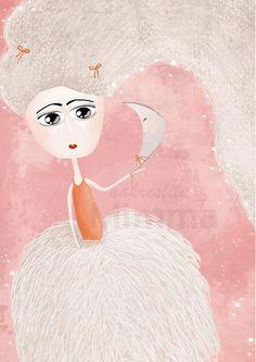 mimma / Balerína digitálna ilustrácia