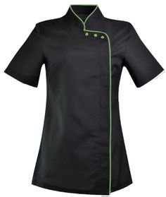 This looks so professional my salon colors - Black and Green!!!! Catherine Moore Spa Uniforms