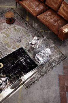 Gorgeous weathered rugs.