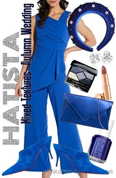 Blue Wedding Guest Outfits, Fall Wedding Outfits, Winter Fashion Outfits, Autumn Fashion, Royal Blue Outfits, Bright Blue Dresses, Mother Of The Bride Hats, Winter Bridesmaids, Bridesmaid Outfit