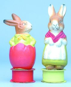 Papier Mache Rabbit Candy Containers