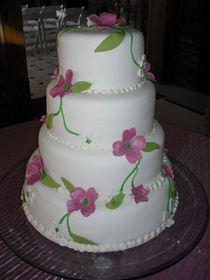 Floral Wedding Cake by The Blue Cake Company