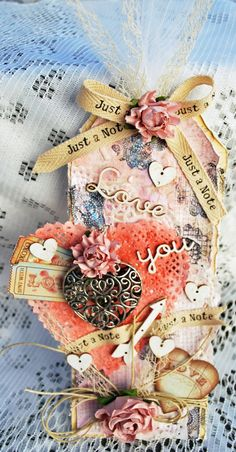 mixed media card with the Feb kit of the month from the Flying Unicorn http://suchawonderfulmess.blogspot.ca/2014/01/your-passion-your-art-flying-unicorn.html