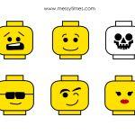 Lego Face Printable | Lego | Pinterest | Lego faces, Lego and Face