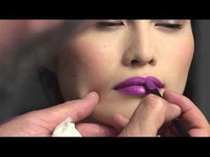 Spring 2013 Shiseido Perfect Rouge - Fuchsia. Classic fuchsia lips expressing clean elegance, pair beautifully with pink silver detail around the eyes and subtle black eyeliner. Watch as Dick Page, Artistic Director for Shiseido Makeup, creates this gorgeous look on Sui He, Global Face of Shiseido Makeup.
