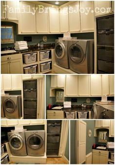 Organized laundry room video tour.