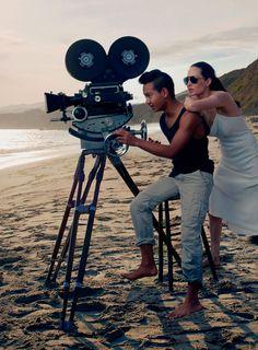 Angelina Jolie e seu filho Maddox