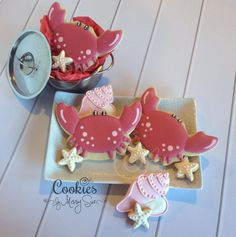 Cute Crab Cookies | Cookies by Missy Sue | Cookie Connection