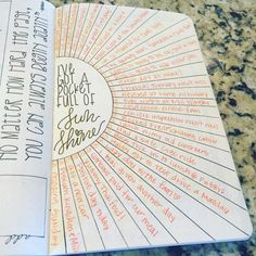 5 BuJo Ideas in 2016 Heartisticjess gratitude sunshine. Top 8 Bullet Journal Ideas for 2016 – Bullet Journal:registered:Heartisticjess gratitude sunshine. Top 8 Bullet Journal Ideas for 2016 – Bullet Journal:registered: Bullet Journal Images, Bullet Journal Inspo, My Journal, Journal Pages, Happy Journal, Therapy Journal, Bullet Journal Reflection, Bullet Journal Reading List, Bullet Journal Goals Layout