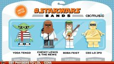 Star Wars Bands (Chewie Lewis and the News - love it!)