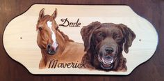 Dude and Maverick wall plaque