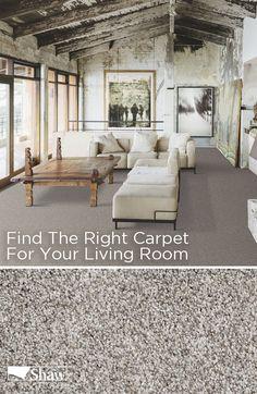 Living Room With Medium Beige Frieze Twisted Carpet Flush Light Impressive Carpet For Living Room Designs Design Ideas