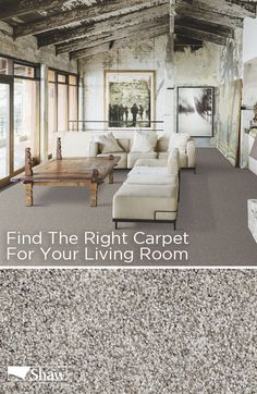 Totally Convinced carpet by Shaw Floors comes in 28 different colors. Find the ideal neutral shade of flooring for your living room or great room that is as beautiful as it is soft underfoot.