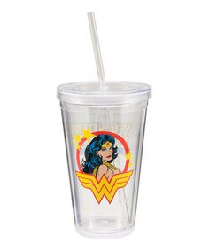 Take a look at this Clear Wonder Woman Travel Tumbler by Marvel & DC Comics Collection on @zulily today!