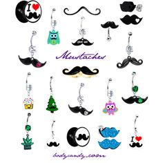 #mustache #jewelry #piercing #style #funny http://www.bodycandy.com/cgi-bin/search.pl?query=mustache