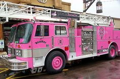 On fire! Love the pink Fire Truck Pretty In Pink, Pink Love, Pink Purple, Perfect Pink, Vw Bus, Ambulance, Hot Pink, Pt Cruiser, I Believe In Pink