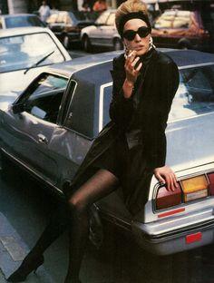 Vogue Italy Editorial October 1990 - Tatjana Patitz by Patrick Demarchelier