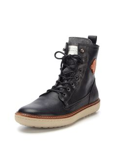 Leather and Canvas Boots by Fred Perry at Gilt