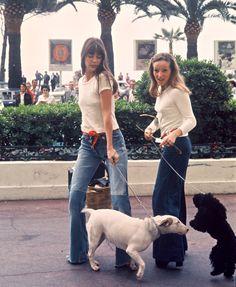 Jane with Nana. Serge Gainsbourg, Charlotte Gainsbourg, Gainsbourg Birkin, 70s Fashion, Denim Fashion, Girl Fashion, Womens Fashion, Fashion Trends, Boho Trends