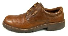 Ecco Oxfords Solid Brown Leather Lace Up Walking Shoes Mens Size 11 11.5 D EU 45 #ECCO #Oxfords