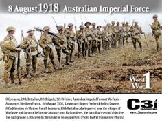8 August 1918 Australian Div WWI.