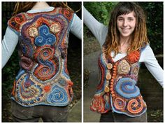 Freeform Crochet Vest by OfMars on Etsy