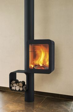 Wall Mounted Fireplaces - CFD sells numerous styles and designs of the modern and contemporary fireplace creations. Wall Mounted Fireplace, Freestanding Fireplace, Custom Fireplace, Stove Fireplace, Modern Fireplace, Fireplace Design, Welded Furniture, O Gas, Fire Pit Designs