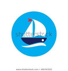Boat Cartoon, Cartoon Ships, Circle Logos, Illustration, Stained Glass, Company Logo, Projects, Vectors, Artists