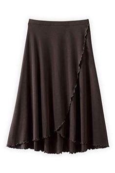 1490c264 Fair Indigo Fair Trade Organic Faux Wrap Skirt (XL, Dark .
