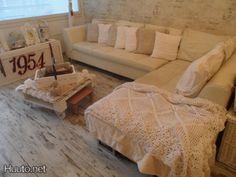 Valkoinen sohva  #huutonet #olohuone