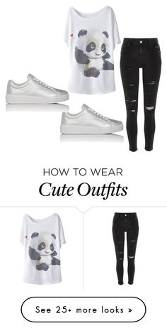 """""""panda outfit"""" by jameladams on Polyvore featuring River Island and Prada Sport"""