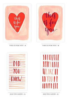 50+ Free Valentine's Printable Cards That Aren't Corny: Save your money and skip the store-bought cards this Valentine's Day.