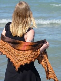 Martinmas shawl - bottom-up then sideways - would be nice in white for a wedding - free pattern by Sarah Burghardt Abram