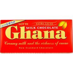 Lotte Ghana Milk Chocolate Bar 55g