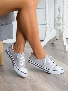 White slip on sneakers, grey sneakers, canvas sneakers, casual shoes, shoes White Slip On Sneakers, Buy Sneakers, Sneakers Mode, Classic Sneakers, Casual Sneakers, Chuck Taylor Sneakers, Slip On Shoes, Sneakers Fashion, Casual Shoes